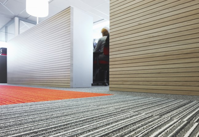 Desso carpet at Neopost