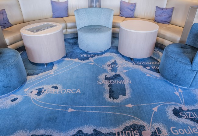 Desso custom made Axminster carpet at Mein Schiff ӏӏ, TUI Cruises
